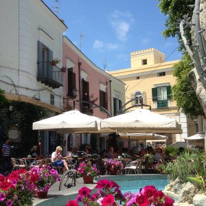 Island of Ischia - Forio, a view of the pretty, bustling centre