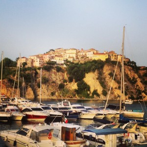 Agropoli - the old town from the port