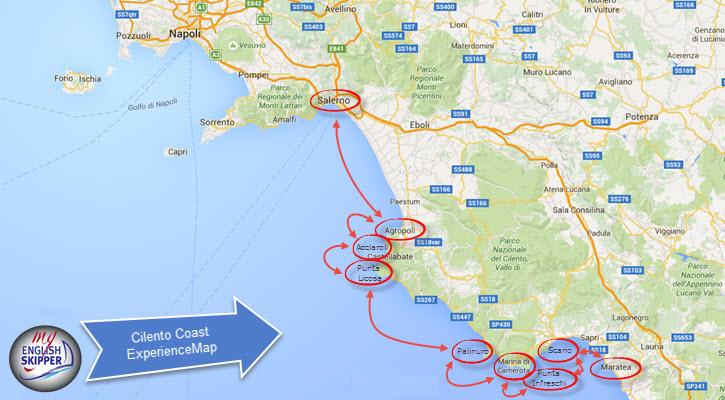 Cilento Region Italy Map.Cilento Coast With An English Skipper Guidemy English Skipper