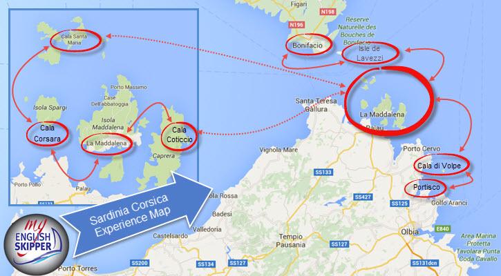 Sardinia-Corsica Experience Map