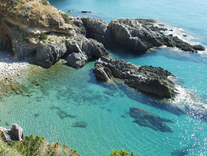 Acciaroli - view of a nearby beach
