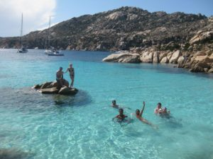 Island of Caprera - Enjoying the blue lagoon.