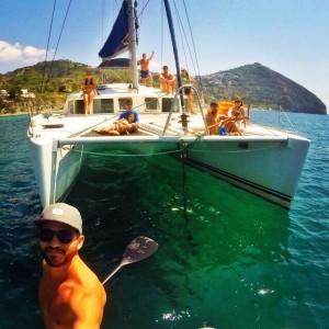 Island of Ischia - Enjoying the crystal waters of S. Angelo