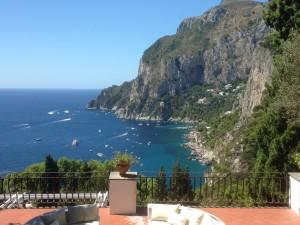 Isle of Capri - Marina Piccola from Punta Tragara.