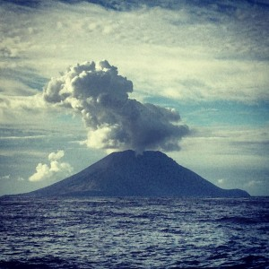 Stromboli - Eruption from 15 miles away