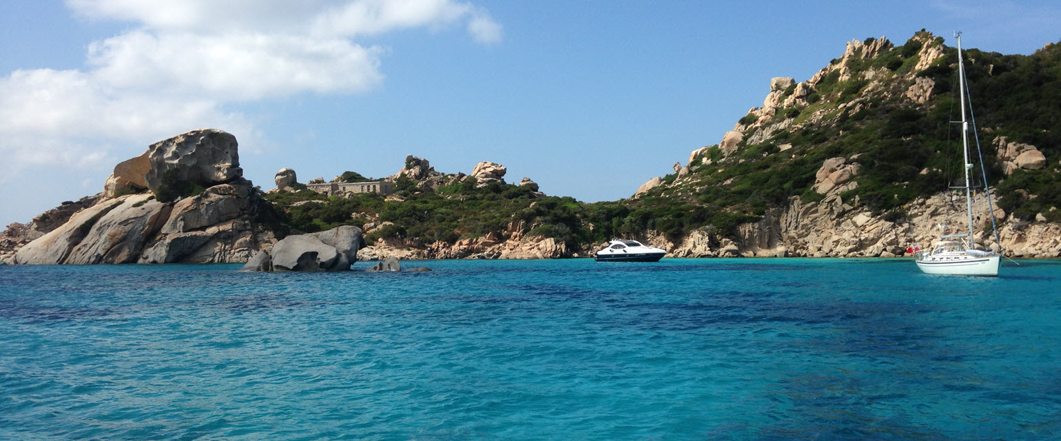 Island of Spargi - The crystal waters of Cala Corsara