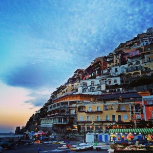 Positano - The colorful houses hanging on to the side of the mountain