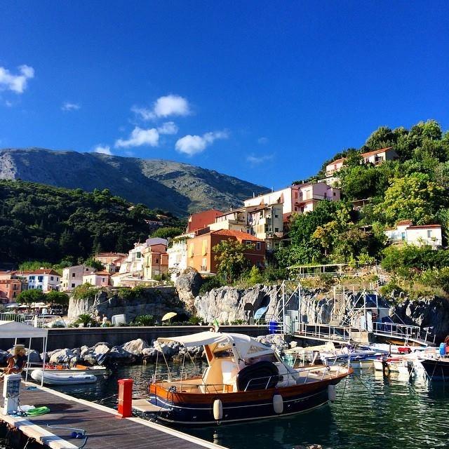 Maratea - A view inside the pretty port
