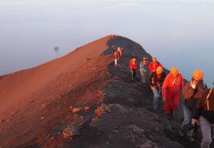 Stromboli - Trekking to the top of the crater