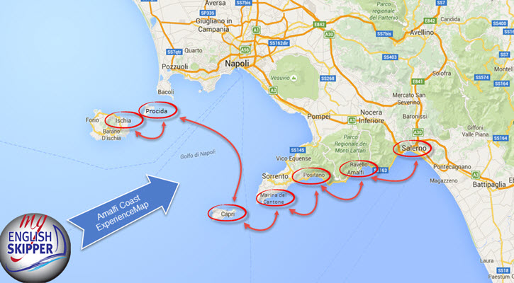 Amalfi Coast Experience Map