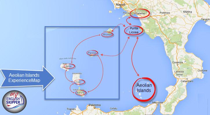 Aeolian Islands Experience Map