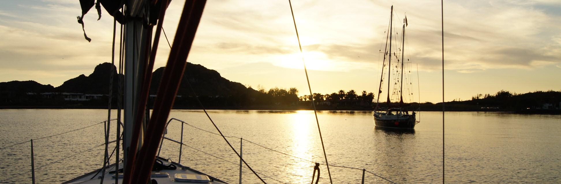 Vulcano - Sunset in the beautiful anchorage of the Porto di Levante